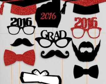 2016 graduation photo booth props graduation photobooth portrait ...