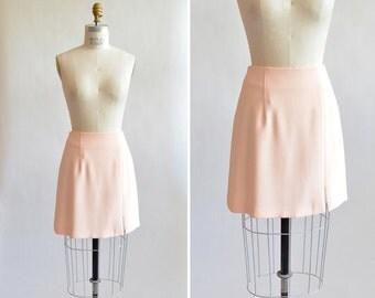 Vintage 1990s MINIMALIST peach mini skirt