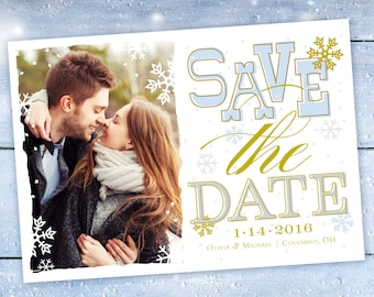 Winter Save The Date Photo Card
