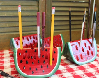 Watermelon Slice Pen Pencil Paint brush Holder