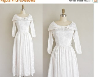 25% off SHOP SALE... 1940s wedding dress / satin floral print dress / 40s wedding dress