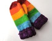 Custom Order Hand Knit Wool Mittens