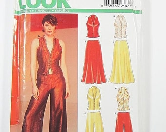 ON SALE New Look Separates Pattern 6182 - Misses' Pants, Skirt and Vest in 4 Variations - SZ 8/10/12/14/16/18