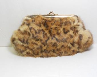 Vintage Ingber Faux Leopard Clutch Purse