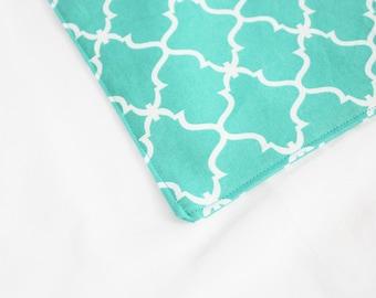 Turquoise Lattice Waterproof Changing Pad - small
