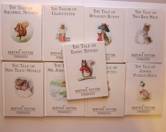 9 vintage BEATRIX POTTER books - circa 1987, color reproductions, F. Warne and Co