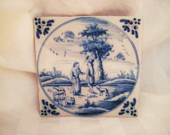 Antique Delft Tile-made in Holland