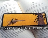 """Don Quixote, Man of La Mancha Bookmark - """"Sarah"""" embroidered at the top"""