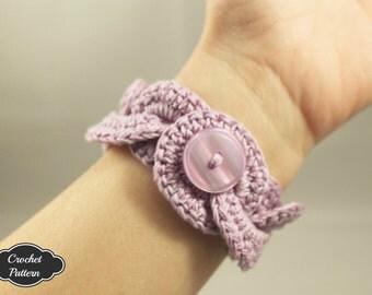 CROCHET PATTERN - Infinity Link Cuff Pattern, Crochet Bracelet, Crochet Cuff Pattern, Easy Crochet Pattern, Crochet Jewelry Pattern
