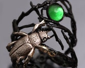 Reserved for Imanuela Branch Ring Twig Ring Beetle Ring Beetle Jewelry Beetle Rings