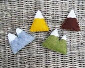 Mini Multicolored Mountain Garland - wool felt, bunting, wall hanging, home decor