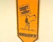 1968 Snoopy for President Felt Pennant Banner