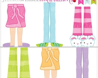 SALE Pajama Feet Cute Digital Clipart for Card Design, Scrapbooking, and Web Design