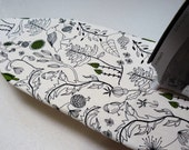Ironing Board Cover TABLE TOP - off white black and green trees leaves