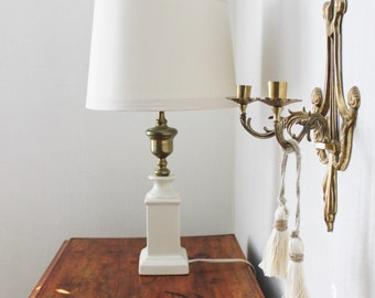 Ceramic and Brass Lamp