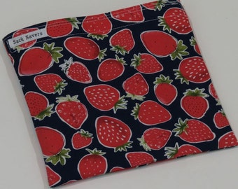 Reusable Sandwich Bag Reusable Snack Bag Strawberry Eco Friendly Bag