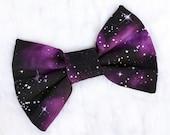 Mini Purple Galaxy Hair Bow