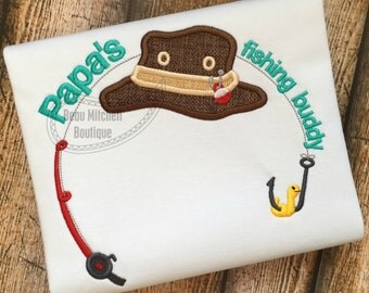 Papa's fishing buddy applique