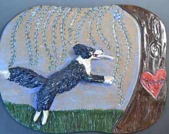 Custom Pet Wall Relief, Wall Plaque, Wall Decoration, Hunting Dog,  Dog, Cat, Rabbit, any Pet Wall Sculpture
