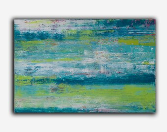 Original Painting,  Abstract Art by Erin Ashley, Acrylic on canvas wall art, colorful art