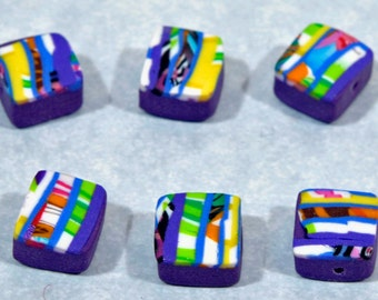 Polymer Clay Beads - Set of 6