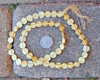 Indian Gold Metal Beads: 12mm