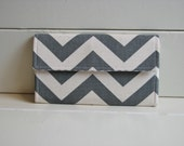 Grey Chevron Trifold Wallet