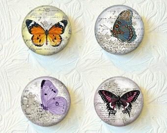 Butterfly Magnet Set 1.5 Inch Set of 4 Buy 3 Sets Get 1 Set Free 505M