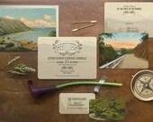 Destination Wedding Invitation, Boho Wedding, Rustic Wedding, Wedding invitations, Hot Rod, Car Wedding, Ocean Wedding, Coastal Wedding