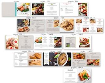 Cookbook Recipe Album template for Photographers - 1038FA