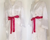ON SALE Vintage 80s / Jai's Intimates / White / Loungewear / Lingerie / Lounge Boudoir / Robe / Large / Extra Large