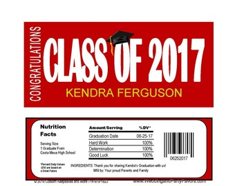 Graduation Editable Candy Bar Wrapper Instant  download Printable -  GRA1217  DIY (1- PDF file) class of 2017