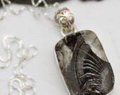 A Silver Lining - Natural Elite Shungite Sterling Silver Necklace