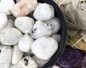 RAINBOW MOONSTONE Tumbled Stone metaphysical reiki wicca LotM8