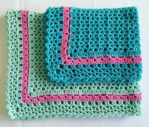 Crochet Pattern For Summer Baby Blanket : PDF Summer Slumber Baby Blankets Crochet Pattern