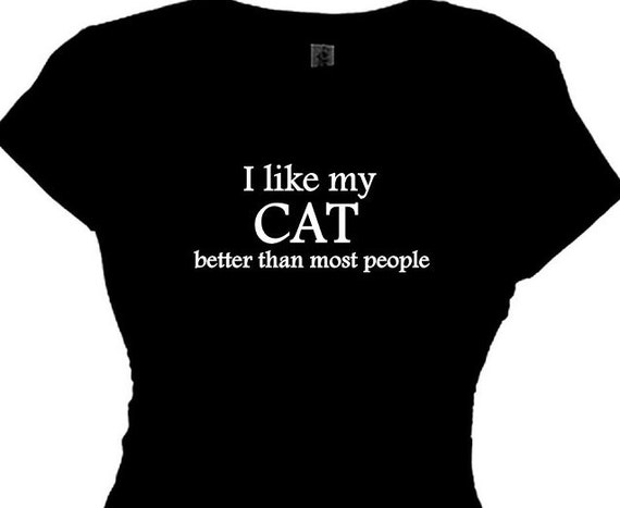 Cat Lady Funny Tee Cat Womans Funny Cat Saying T Shirts Womens
