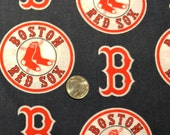 Fabric BTY  Boston Red Sox Baseball Fabric