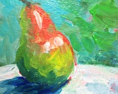 Mini Paintings, Pear.Acrylic Painting, Small Painting, Fine Art