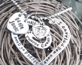 Personalized Hand Stamped Misscarriage Necklace - Baby loss Necklace