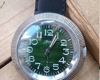 25% OFF ON SALE Vintage huge watch, mens watch, green watch,
