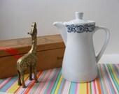 Vintage Bauscher Weiden Teapot, Bavaria Germany, Single Serving Teapot, Teapot for One, Hotel Teapot, Restaurant Teapot, Tiny Teapot