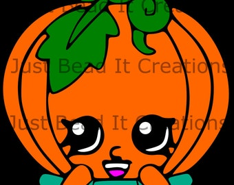 Shopkin Inspired Pumpkinella Die Cut File