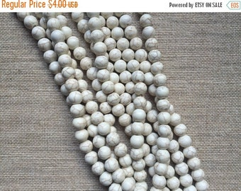 ON SALE 10mm Natural Howlite Rounds