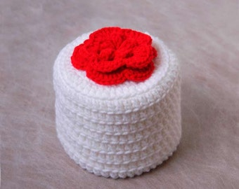 Red Rose Crochet Toilet Paper Cover, Cottage Style Flower Cozy, Storage, Bathroom Decor, Mother's Day