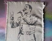 Freddie Mercury Queen music patch rock n roll patches street art