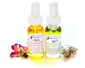 Set of Two ~ Wildflower Immortelle / Wild Rose Face Serums .5 oz bottles
