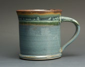 Handmade pottery coffee mug, ceramic mug, stoneware tea cup, medium mug  2684
