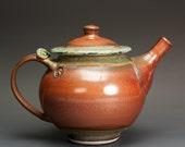 Stoneware teapot, pottery tea pot, ceramic teapot 24 oz 3013