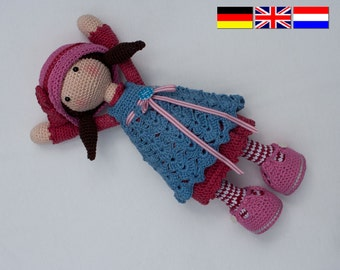 Crochet pattern for doll CELINE (Deutsch, English, Nederlands)