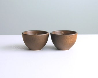 Set of 2 Finnish Reindeer Small Ceramic Bowls